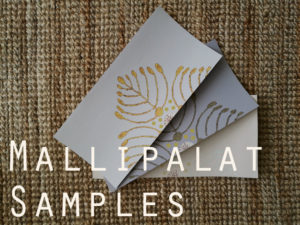 Tilaa mallipalat / Sample orders